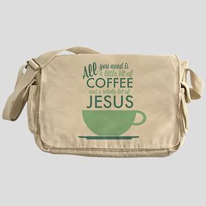 Coffee & Jesus Messenger Bag