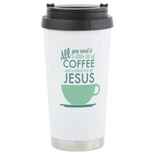 Coffee & Jesus Stainless Steel Travel Mug