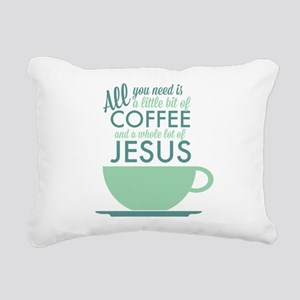 Coffee & Jesus Rectangular Canvas Pillow