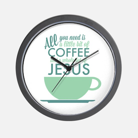 Coffee & Jesus Wall Clock