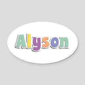 Alyson Spring14 Oval Car Magnet