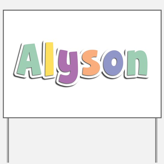 Alyson Spring14 Yard Sign