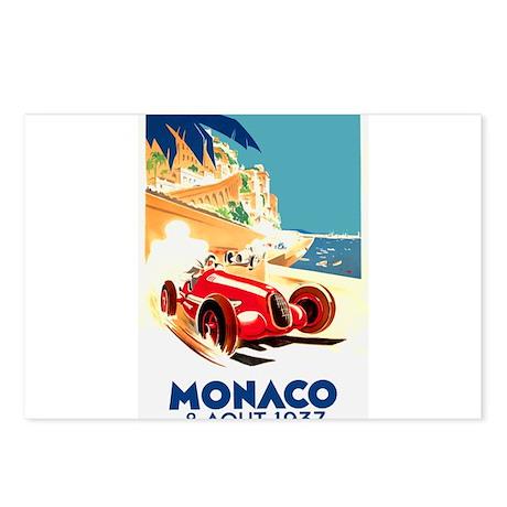 Antique 1937 Monaco Grand Prix Auto Race Poster Po