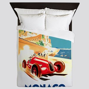 Antique 1937 Monaco Grand Prix Auto Race Poster Qu