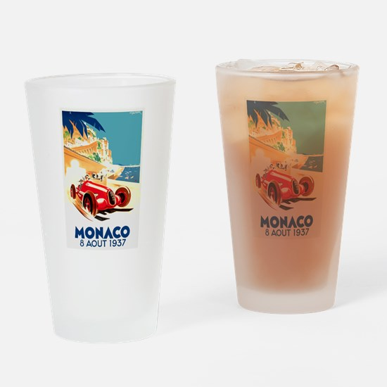 Antique 1937 Monaco Grand Prix Auto Race Poster Dr