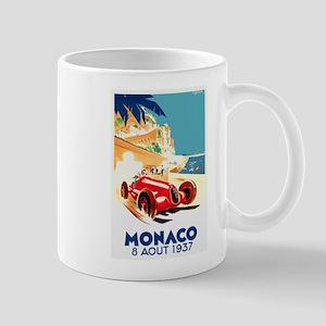 Antique 1937 Monaco Grand Prix Auto Race Poster Mu