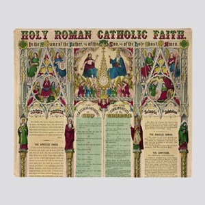 Holy Roman Catholic Faith Throw Blanket