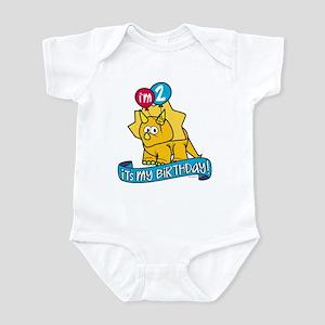 2nd Birthday Dinosaur Infant Bodysuit