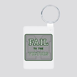 Fail To The Victors Aluminum Photo Keychain