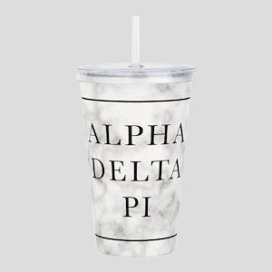 Alpha Delta Pi Marble Acrylic Double-wall Tumbler
