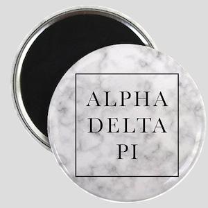 Alpha Delta Pi Marble Magnet