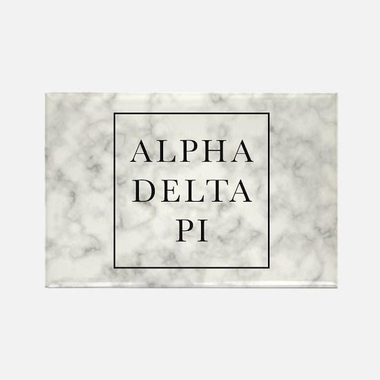 Alpha Delta Pi Marble Rectangle Magnet