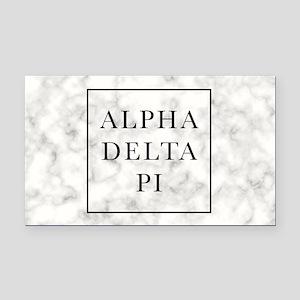 Alpha Delta Pi Marble Rectangle Car Magnet