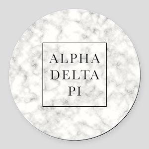 Alpha Delta Pi Marble Round Car Magnet