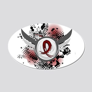 Sickle Cell Anemia GrungeRib 20x12 Oval Wall Decal