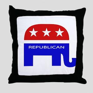 GOP Elephant Throw Pillow