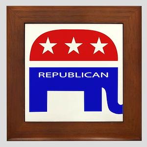 GOP Elephant Framed Tile