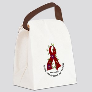 Sickle Cell Anemia FlowerRibbon1. Canvas Lunch Bag