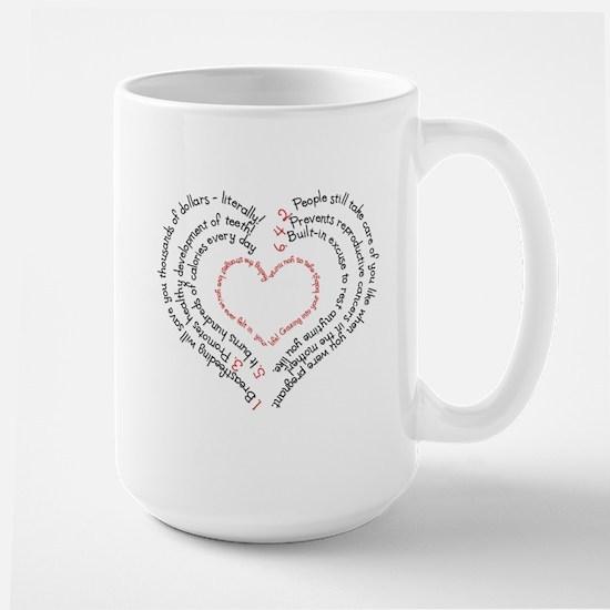 Breastfeeding: The Greatest Gift Large Mug