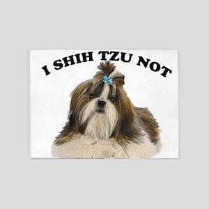 I shit you not Shih Tzu Pun 5'x7'Area Rug