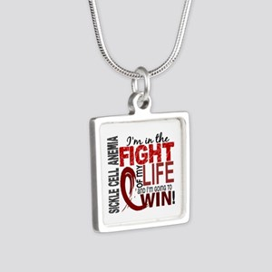 Sickle Cell Anemia FightOf Silver Square Necklace