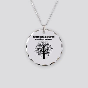 Genealogists use their censu Necklace Circle Charm