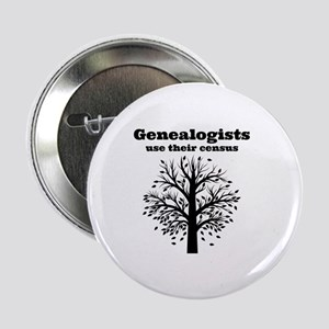 "Genealogists use their census 2.25"" Button"
