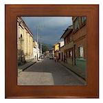 Tabio Village Street Framed Tile