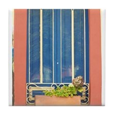 Blue Window Tile Coaster