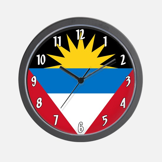 Flag of Antigua and Barbuda Wall Clock