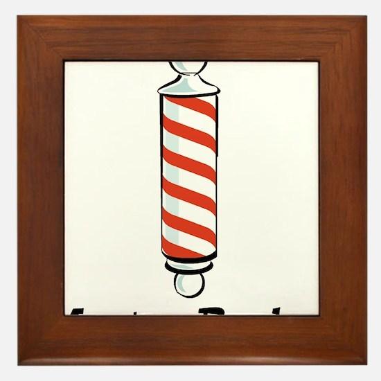 Master Barber Framed Tile