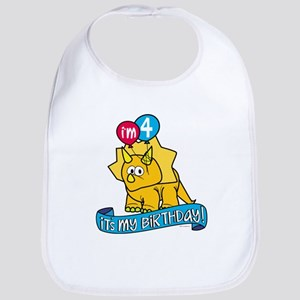 4th Birthday Dinosaur Bib