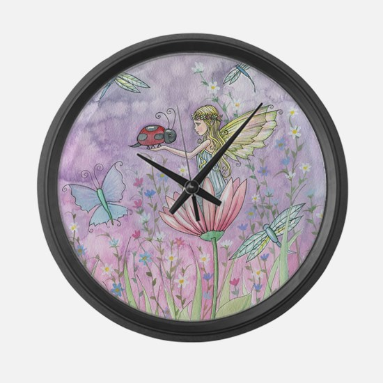 A Friendly Encounter Fairy and La Large Wall Clock