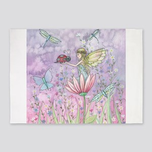 A Friendly Encounter Fairy and Lady 5'x7'Area Rug