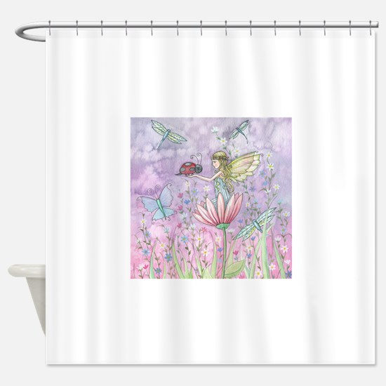 A Friendly Encounter Fairy and Lady Shower Curtain
