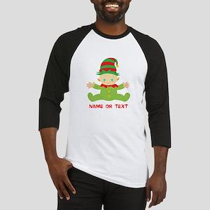 Elf Baby Personalized Baseball Tee