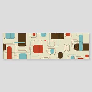 mid century modern art Bumper Sticker