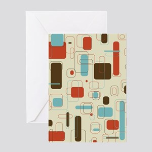 mid century modern art Greeting Cards