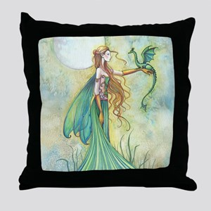 Discipline Fairy and Dragon Fantasy Art Throw Pill