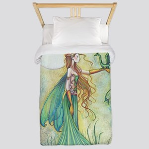 Discipline Fairy and Dragon Fantasy Art Twin Duvet