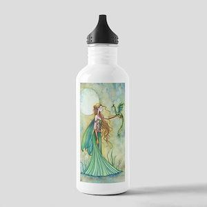 Discipline Fairy and Dragon Fantasy Art Water Bott