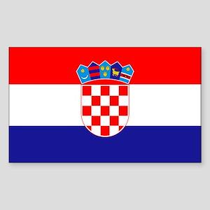 Croatia Flag Sticker (Rectangle)