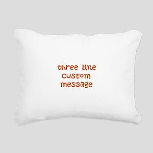 Three Line Custom Design Rectangular Canvas Pillow