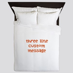 Three Line Custom Design Queen Duvet