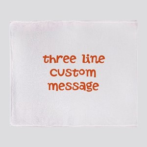 Three Line Custom Design Throw Blanket