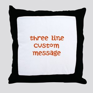 Three Line Custom Design Throw Pillow