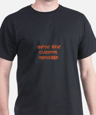 Three Line Custom Design T-Shirt