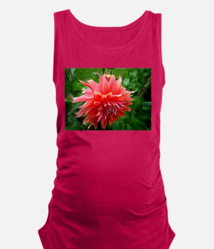 Deep Pink Dahlia Maternity Tank Top