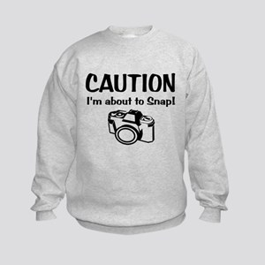 Caution Snap: Sweatshirt