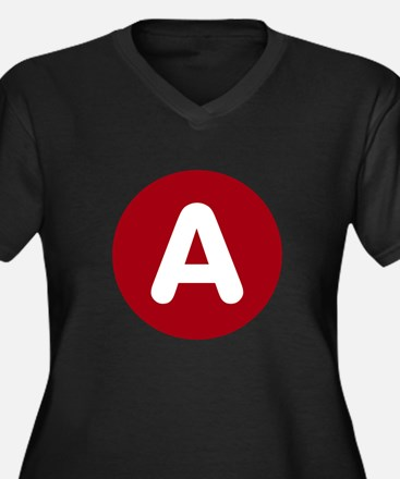Letter on a Red Circle Plus Size T-Shirt